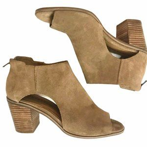 LUCKY BRAND Keight Suede Open Toe Zip Ankl…